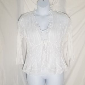 NWT Notations SEXY 2 pc sheer ivory combo top set.